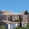 View from our hotel room balcony of the Acropolis.
