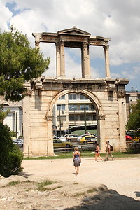 Handrian's Arch, from inside the grounds of the Temple of Olympian Zeus.