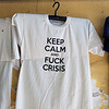 T-shirt alluding to the financial crisis in Greece.  The exact same shirt was on sale at the exact same store 1 year ago, last time I was in Athens :): https://irina.smugmug.com/Athens-Greece-June-15-2016/i-2Bfwgb4.
