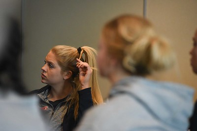 women NCAA-morning practice