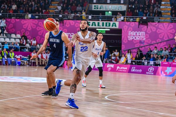2019 PANAMS: BASKETBALL: ARGENTINA VS PUERTO RICO
