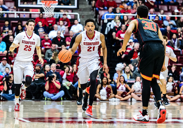 2015 COL BBALL: USC VS STANFORD