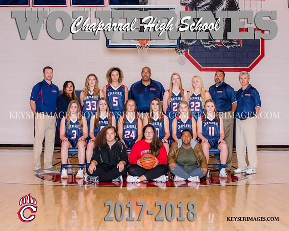 2017-2018 CHAPARRAL GIRLS BASKETBALL