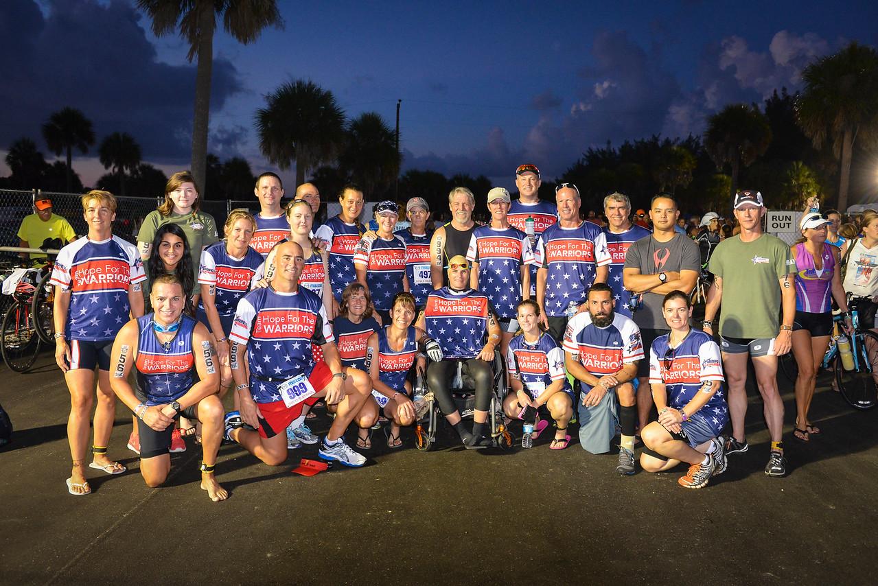 Hope for the Warriors Team at Top Gun  Triathlon
