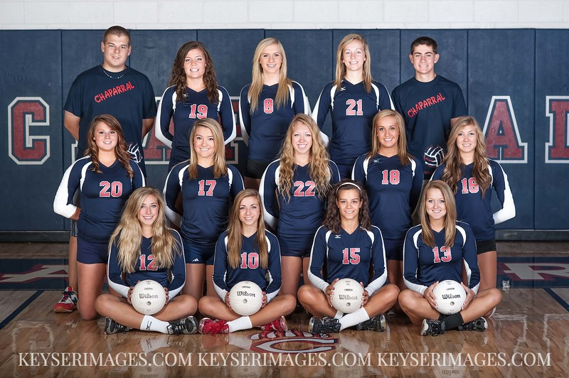 2012 Chaparral HS Girls Volleyball