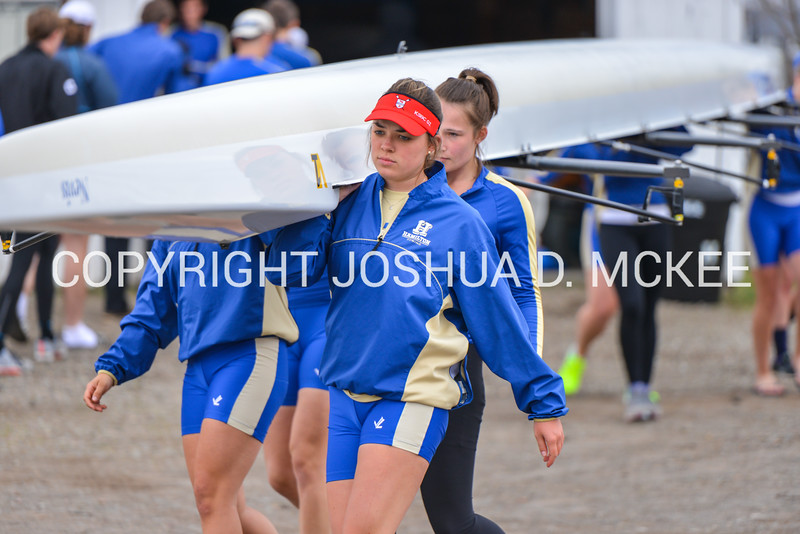 4/12/17 4:45:30 PM Hamilton College Rowing Practice, at Erie Canal, Rome, NY<br /> <br /> Photo by Josh McKee
