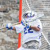 Hamilton College goalkeeper John Schisler (22)<br /> <br /> 4/22/17 1:13:40 PM Hamilton College Men's Lacrosse v. Trinity College at Steuben Field, Hamilton College, Clinton, NY<br /> <br /> Photo by Josh McKee