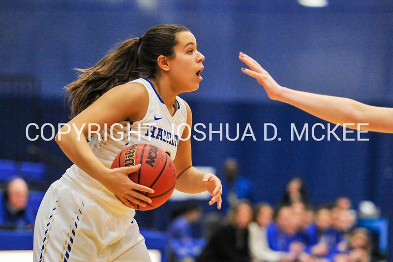 1/28/17 3:07:07 PM Hamilton College Women's Basketball v Middleburg College at Margaret Bundy Scott Field House, Hamilton College, Clinton, NY<br /> <br /> Hamilton won 68-62<br /> <br /> Photo by Josh McKee