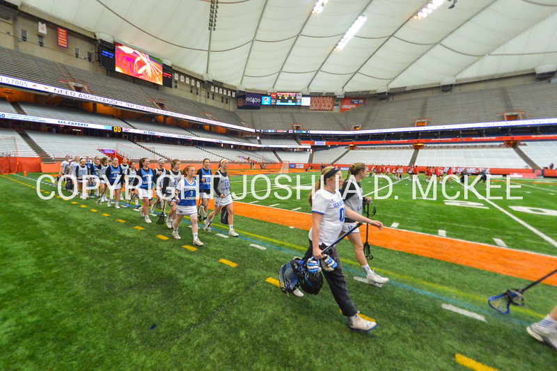 3/11/17 2:22:59 PM Hamilton College Women's Lacrosse v. Wesleyan University at the Carrier Dome, Syracuse University, Syracuse, NY<br /> <br /> Final: Hamilton 7  Wesleyan 8<br /> <br /> Photo by Josh McKee