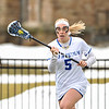 Hamilton College midfielder Kara Pooley (5)<br /> <br /> 4/1/17 12:07:09 PM Hamilton College Women's Lacrosse v. Bates College, at Steuben Field, Hamilton College, Clinton, NY<br /> <br /> Hamilton 13  Bates 5<br /> <br /> Photo by Josh McKee