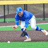 Hamilton College infielder Matt Cappelletti (13)<br /> <br /> 4/13/18 3:33:15 PM Baseball: Wesleyan University vs Hamilton College at Loop Road Baseball/Softball Complex, Hamilton College, Clinton, NY<br /> <br /> Final: Wesleyan 2    Hamilton 3<br /> <br /> Photo by Josh McKee