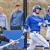 Hamilton College outfielder James Nish (33)<br /> <br /> 4/13/18 5:05:28 PM Baseball: Wesleyan University vs Hamilton College at Loop Road Baseball/Softball Complex, Hamilton College, Clinton, NY<br /> <br /> Final: Wesleyan 2    Hamilton 3<br /> <br /> Photo by Josh McKee