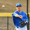 Hamilton College infielder Matt Cappelletti (13)<br /> <br /> 4/13/18 5:11:36 PM Baseball: Wesleyan University vs Hamilton College at Loop Road Baseball/Softball Complex, Hamilton College, Clinton, NY<br /> <br /> Final: Wesleyan 2    Hamilton 3<br /> <br /> Photo by Josh McKee