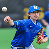 Hamilton College pitcher Chris Keane (2)<br /> <br /> 4/13/18 4:33:32 PM Baseball: Wesleyan University vs Hamilton College at Loop Road Baseball/Softball Complex, Hamilton College, Clinton, NY<br /> <br /> Final: Wesleyan 2    Hamilton 3<br /> <br /> Photo by Josh McKee