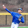 Hamilton College infielder Jarrett Lee (4)<br /> <br /> 4/13/18 3:06:21 PM Baseball: Wesleyan University vs Hamilton College at Loop Road Baseball/Softball Complex, Hamilton College, Clinton, NY<br /> <br /> Final: Wesleyan 2    Hamilton 3<br /> <br /> Photo by Josh McKee
