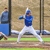 Hamilton College infielder Graham McOsker (19)<br /> <br /> 4/13/18 5:09:52 PM Baseball: Wesleyan University vs Hamilton College at Loop Road Baseball/Softball Complex, Hamilton College, Clinton, NY<br /> <br /> Final: Wesleyan 2    Hamilton 3<br /> <br /> Photo by Josh McKee