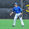 Hamilton College outfielder Nate Goodman (8)<br /> <br /> 4/13/18 3:30:59 PM Baseball: Wesleyan University vs Hamilton College at Loop Road Baseball/Softball Complex, Hamilton College, Clinton, NY<br /> <br /> Final: Wesleyan 2    Hamilton 3<br /> <br /> Photo by Josh McKee