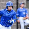 Hamilton College outfielder Rich Marooney (5)<br /> <br /> 4/13/18 3:27:06 PM Baseball: Wesleyan University vs Hamilton College at Loop Road Baseball/Softball Complex, Hamilton College, Clinton, NY<br /> <br /> Final: Wesleyan 2    Hamilton 3<br /> <br /> Photo by Josh McKee