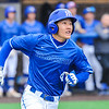 Hamilton College infielder Jarrett Lee (4)<br /> <br /> 4/13/18 3:14:08 PM Baseball: Wesleyan University vs Hamilton College at Loop Road Baseball/Softball Complex, Hamilton College, Clinton, NY<br /> <br /> Final: Wesleyan 2    Hamilton 3<br /> <br /> Photo by Josh McKee