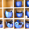 Helmets<br /> <br /> 4/13/18 2:32:10 PM Baseball: Wesleyan University vs Hamilton College at Loop Road Baseball/Softball Complex, Hamilton College, Clinton, NY<br /> <br /> Final: Wesleyan 2    Hamilton 3<br /> <br /> Photo by Josh McKee