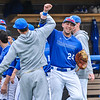 Hamilton College infielder Dean Rosenberg (24)<br /> <br /> 4/13/18 3:03:19 PM Baseball: Wesleyan University vs Hamilton College at Loop Road Baseball/Softball Complex, Hamilton College, Clinton, NY<br /> <br /> Final: Wesleyan 2    Hamilton 3<br /> <br /> Photo by Josh McKee