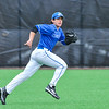 Hamilton College outfielder Nate Goodman (8)<br /> <br /> 4/13/18 3:37:28 PM Baseball: Wesleyan University vs Hamilton College at Loop Road Baseball/Softball Complex, Hamilton College, Clinton, NY<br /> <br /> Final: Wesleyan 2    Hamilton 3<br /> <br /> Photo by Josh McKee
