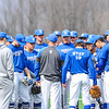 Hamilton College head coach Tim Byrnes, Team<br /> <br /> 4/13/18 2:29:55 PM Baseball: Wesleyan University vs Hamilton College at Loop Road Baseball/Softball Complex, Hamilton College, Clinton, NY<br /> <br /> Final: Wesleyan 2    Hamilton 3<br /> <br /> Photo by Josh McKee