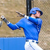 Hamilton College outfielder James Nish (33)<br /> <br /> 4/13/18 3:15:13 PM Baseball: Wesleyan University vs Hamilton College at Loop Road Baseball/Softball Complex, Hamilton College, Clinton, NY<br /> <br /> Final: Wesleyan 2    Hamilton 3<br /> <br /> Photo by Josh McKee