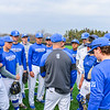 Hamilton College head coach Tim Byrnes, Team<br /> <br /> 4/13/18 2:30:53 PM Baseball: Wesleyan University vs Hamilton College at Loop Road Baseball/Softball Complex, Hamilton College, Clinton, NY<br /> <br /> Final: Wesleyan 2    Hamilton 3<br /> <br /> Photo by Josh McKee