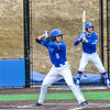 Hamilton College outfielder Nate Goodman (8)<br /> <br /> 4/13/18 3:41:45 PM Baseball: Wesleyan University vs Hamilton College at Loop Road Baseball/Softball Complex, Hamilton College, Clinton, NY<br /> <br /> Final: Wesleyan 2    Hamilton 3<br /> <br /> Photo by Josh McKee
