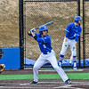 Hamilton College outfielder Nate Goodman (8)<br /> <br /> 4/13/18 4:44:42 PM Baseball: Wesleyan University vs Hamilton College at Loop Road Baseball/Softball Complex, Hamilton College, Clinton, NY<br /> <br /> Final: Wesleyan 2    Hamilton 3<br /> <br /> Photo by Josh McKee
