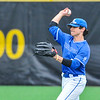 Hamilton College outfielder Nate Goodman (8)<br /> <br /> 4/13/18 3:34:15 PM Baseball: Wesleyan University vs Hamilton College at Loop Road Baseball/Softball Complex, Hamilton College, Clinton, NY<br /> <br /> Final: Wesleyan 2    Hamilton 3<br /> <br /> Photo by Josh McKee