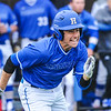 Hamilton College outfielder Nate Goodman (8)<br /> <br /> 4/13/18 3:41:54 PM Baseball: Wesleyan University vs Hamilton College at Loop Road Baseball/Softball Complex, Hamilton College, Clinton, NY<br /> <br /> Final: Wesleyan 2    Hamilton 3<br /> <br /> Photo by Josh McKee