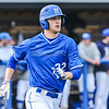 Hamilton College outfielder Ethan Wallis (22)<br /> <br /> 4/13/18 4:51:48 PM Baseball: Wesleyan University vs Hamilton College at Loop Road Baseball/Softball Complex, Hamilton College, Clinton, NY<br /> <br /> Final: Wesleyan 2    Hamilton 3<br /> <br /> Photo by Josh McKee