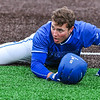Hamilton College outfielder Rich Marooney (5)<br /> <br /> 4/13/18 4:41:17 PM Baseball: Wesleyan University vs Hamilton College at Loop Road Baseball/Softball Complex, Hamilton College, Clinton, NY<br /> <br /> Final: Wesleyan 2    Hamilton 3<br /> <br /> Photo by Josh McKee