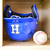 Helmet and ball<br /> <br /> 4/13/18 2:34:09 PM Baseball: Wesleyan University vs Hamilton College at Loop Road Baseball/Softball Complex, Hamilton College, Clinton, NY<br /> <br /> Final: Wesleyan 2    Hamilton 3<br /> <br /> Photo by Josh McKee