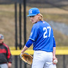 Hamilton College pitcher Brian Lawson (27)<br /> <br /> 4/13/18 3:10:31 PM Baseball: Wesleyan University vs Hamilton College at Loop Road Baseball/Softball Complex, Hamilton College, Clinton, NY<br /> <br /> Final: Wesleyan 2    Hamilton 3<br /> <br /> Photo by Josh McKee