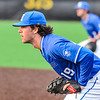 Hamilton College infielder Graham McOsker (19)<br /> <br /> 4/13/18 5:02:20 PM Baseball: Wesleyan University vs Hamilton College at Loop Road Baseball/Softball Complex, Hamilton College, Clinton, NY<br /> <br /> Final: Wesleyan 2    Hamilton 3<br /> <br /> Photo by Josh McKee
