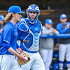 Hamilton College catcher Craig Sandford (30), Hamilton College pitcher Brian Lawson (27)<br /> <br /> 4/13/18 3:38:53 PM Baseball: Wesleyan University vs Hamilton College at Loop Road Baseball/Softball Complex, Hamilton College, Clinton, NY<br /> <br /> Final: Wesleyan 2    Hamilton 3<br /> <br /> Photo by Josh McKee