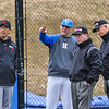 Hamilton College head coach Tim Byrnes<br /> <br /> 4/13/18 2:59:21 PM Baseball: Wesleyan University vs Hamilton College at Loop Road Baseball/Softball Complex, Hamilton College, Clinton, NY<br /> <br /> Final: Wesleyan 2    Hamilton 3<br /> <br /> Photo by Josh McKee