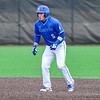 Hamilton College outfielder Rich Marooney (5)<br /> <br /> 4/13/18 3:28:53 PM Baseball: Wesleyan University vs Hamilton College at Loop Road Baseball/Softball Complex, Hamilton College, Clinton, NY<br /> <br /> Final: Wesleyan 2    Hamilton 3<br /> <br /> Photo by Josh McKee