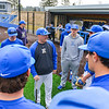 Hamilton College head coach Tim Byrnes, Team<br /> <br /> 4/13/18 2:30:36 PM Baseball: Wesleyan University vs Hamilton College at Loop Road Baseball/Softball Complex, Hamilton College, Clinton, NY<br /> <br /> Final: Wesleyan 2    Hamilton 3<br /> <br /> Photo by Josh McKee