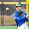 Hamilton College infielder Jarrett Lee (4)<br /> <br /> 4/13/18 5:03:07 PM Baseball: Wesleyan University vs Hamilton College at Loop Road Baseball/Softball Complex, Hamilton College, Clinton, NY<br /> <br /> Final: Wesleyan 2    Hamilton 3<br /> <br /> Photo by Josh McKee