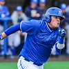 Hamilton College outfielder Rich Marooney (5)<br /> <br /> 4/13/18 4:41:13 PM Baseball: Wesleyan University vs Hamilton College at Loop Road Baseball/Softball Complex, Hamilton College, Clinton, NY<br /> <br /> Final: Wesleyan 2    Hamilton 3<br /> <br /> Photo by Josh McKee