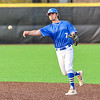 Hamilton College infielder Matt Zaffino (7)<br /> <br /> 4/13/18 5:11:23 PM Baseball: Wesleyan University vs Hamilton College at Loop Road Baseball/Softball Complex, Hamilton College, Clinton, NY<br /> <br /> Final: Wesleyan 2    Hamilton 3<br /> <br /> Photo by Josh McKee