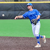 Hamilton College infielder Matt Zaffino (7)<br /> <br /> 4/13/18 3:20:19 PM Baseball: Wesleyan University vs Hamilton College at Loop Road Baseball/Softball Complex, Hamilton College, Clinton, NY<br /> <br /> Final: Wesleyan 2    Hamilton 3<br /> <br /> Photo by Josh McKee