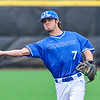 Hamilton College infielder Matt Zaffino (7)<br /> <br /> 4/13/18 3:05:54 PM Baseball: Wesleyan University vs Hamilton College at Loop Road Baseball/Softball Complex, Hamilton College, Clinton, NY<br /> <br /> Final: Wesleyan 2    Hamilton 3<br /> <br /> Photo by Josh McKee