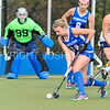 Hamilton College defender Aly Skelly (14)<br /> <br /> 10/28/17 1:11:23 PM Women's Field Hockey  NESCAC Championship Quarterfinal:  Trinity College vs Hamilton College, at Goodfriend Field, Hamilton College, Clinton, NY<br /> <br /> Final:  Trinity 3  Hamilton 1<br /> <br /> Photo by Josh McKee