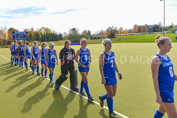 Team<br /> <br /> 10/28/17 12:56:20 PM Women's Field Hockey  NESCAC Championship Quarterfinal:  Trinity College vs Hamilton College, at Goodfriend Field, Hamilton College, Clinton, NY<br /> <br /> Final:  Trinity 3  Hamilton 1<br /> <br /> Photo by Josh McKee