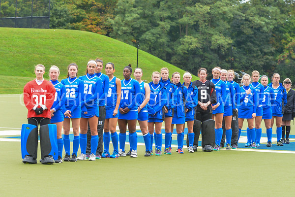 Team<br /> <br /> 9/30/17 10:59:09 AM Women's Field Hockey: Wesleyan University v Hamilton College, at Goodfriend Field, Hamilton College, Clinton, NY<br /> <br /> Final: Wesleyan 0  Hamilton 4<br /> <br /> Photo by Josh McKee